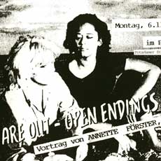 Link zum Programmflyer Sad Endings are out